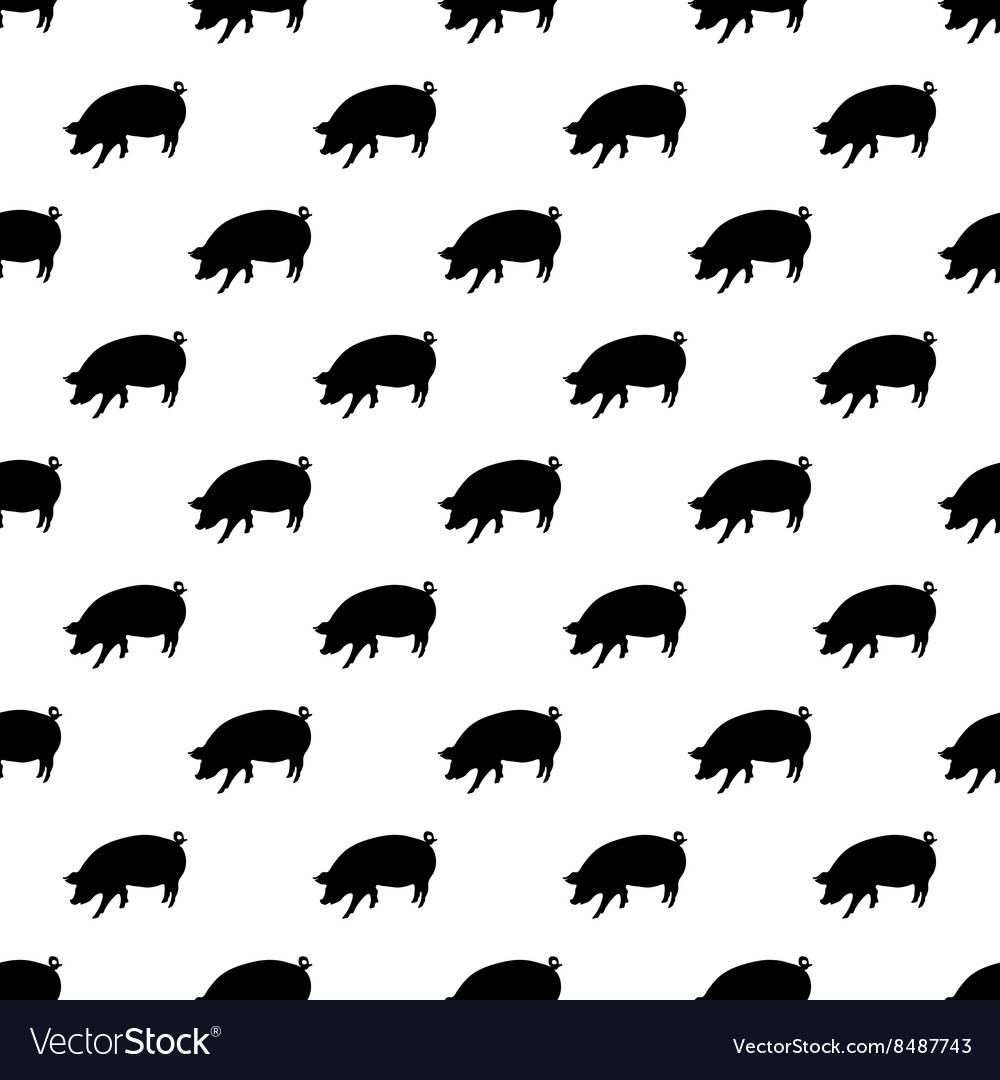Pig pattern seamless vector image