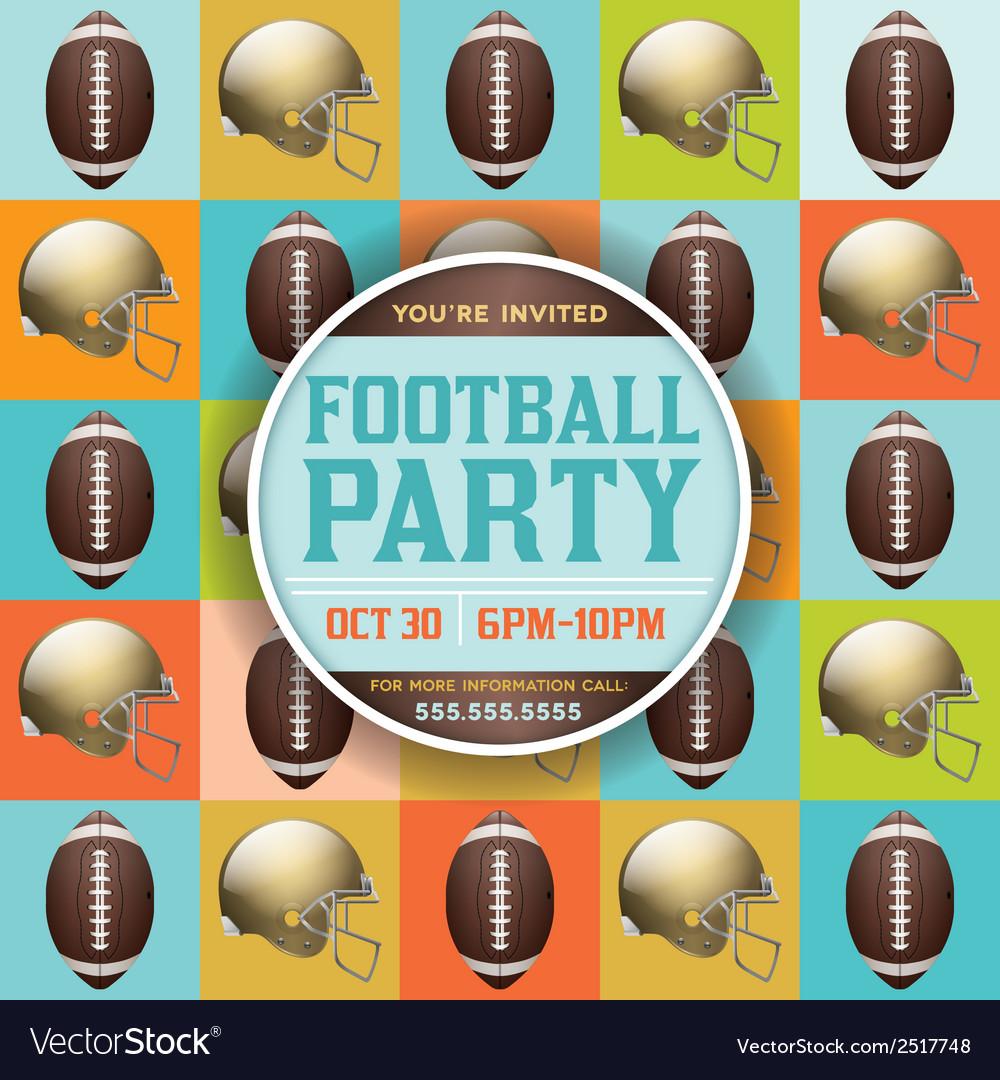 American Football Party Pattern Invitation