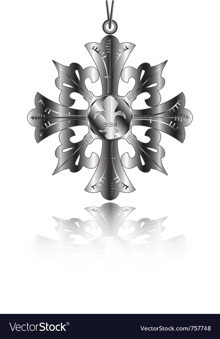 French Lily Fleur De Lys Royalty Free Vector Image