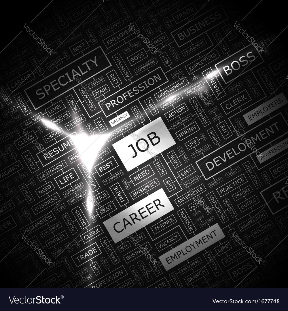 JOB vector image