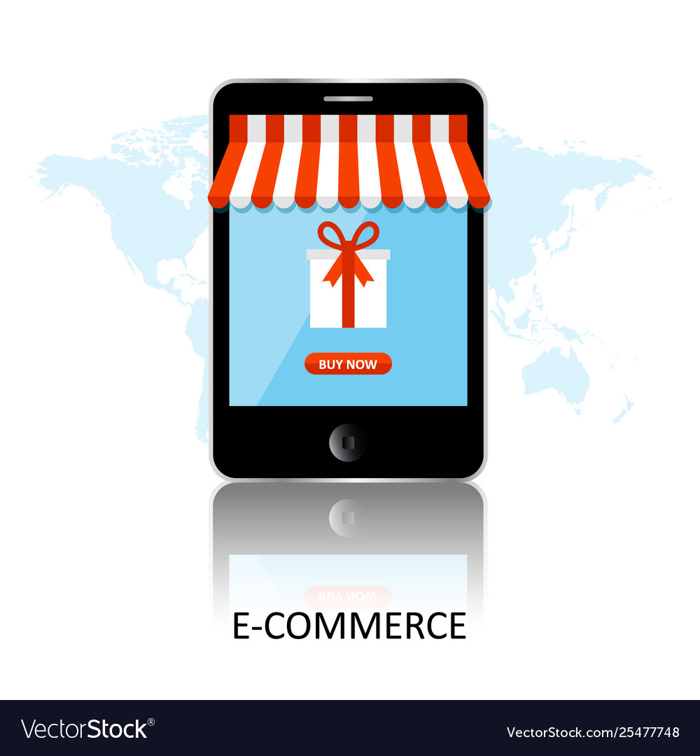 Online shopping smartphone turned into internet