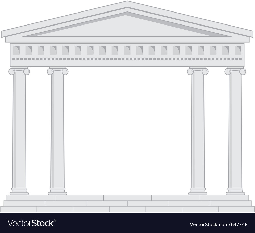 Portico an ancient temple vector image