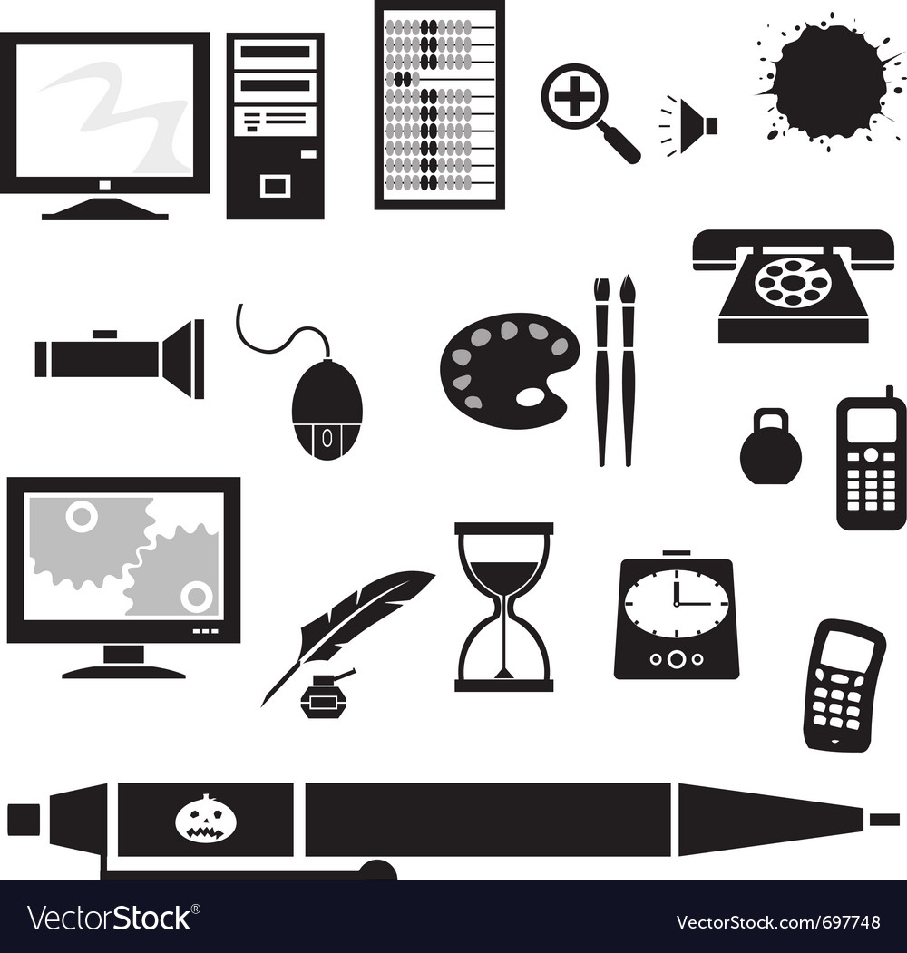 Silhouette - office vector image