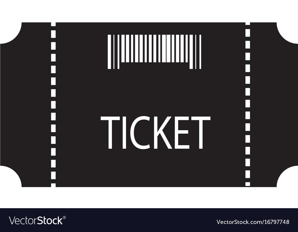 Ticket icon on white background flat style