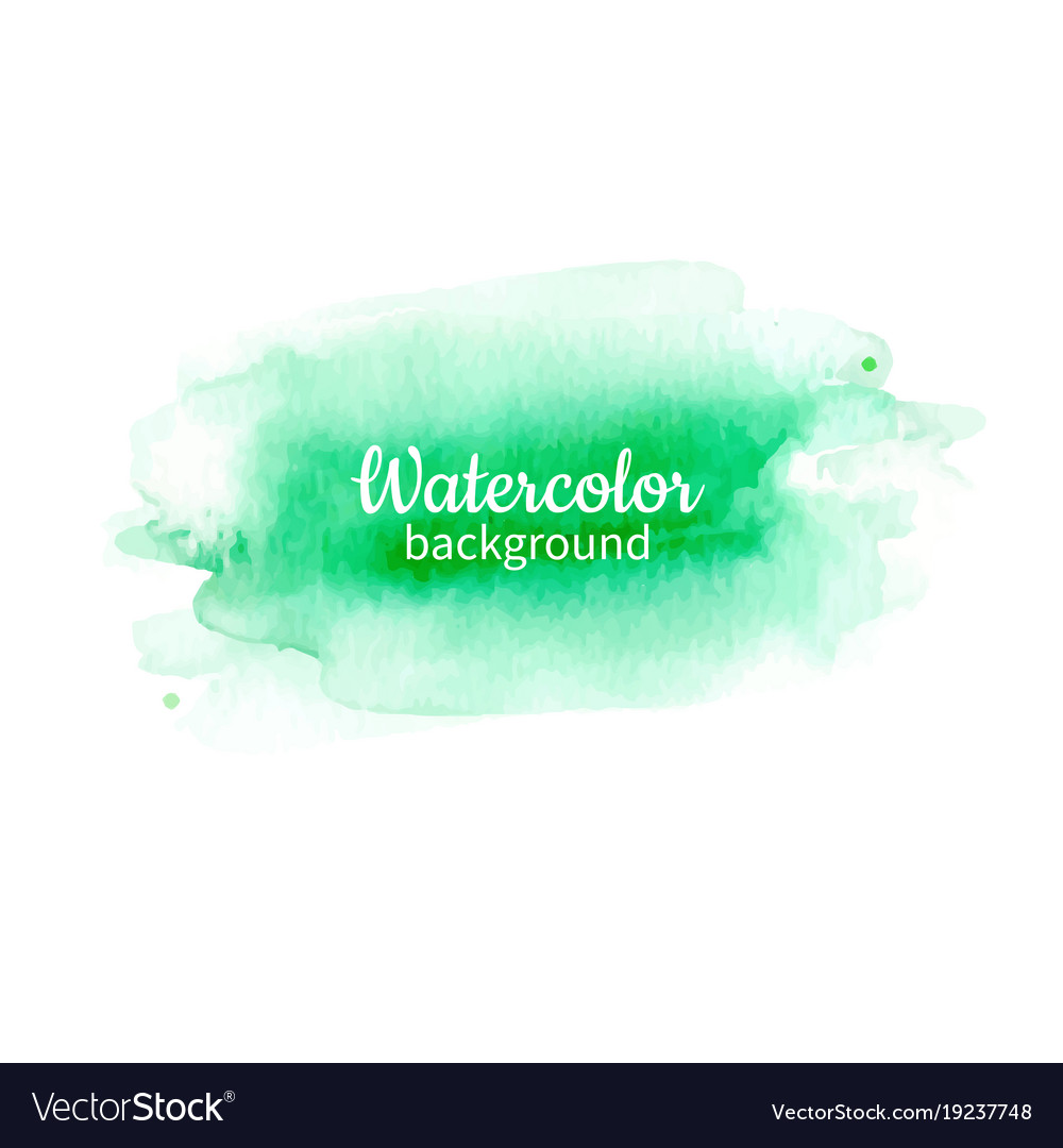 Watercolor geen abstract hand painted background