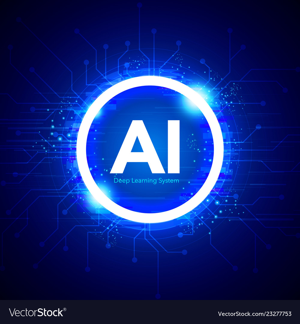 Artificial intelligence ai technology concept