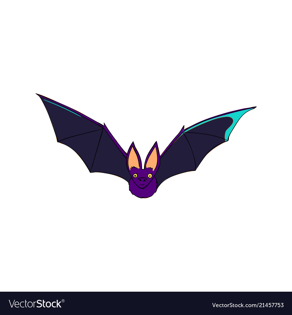 Bat is a nocturnal animal a symbol of halloween