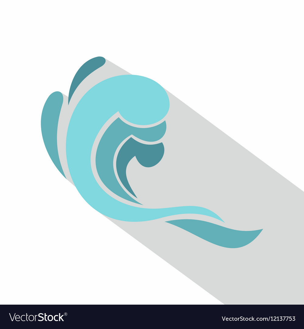 Blue wave icon cartoon style