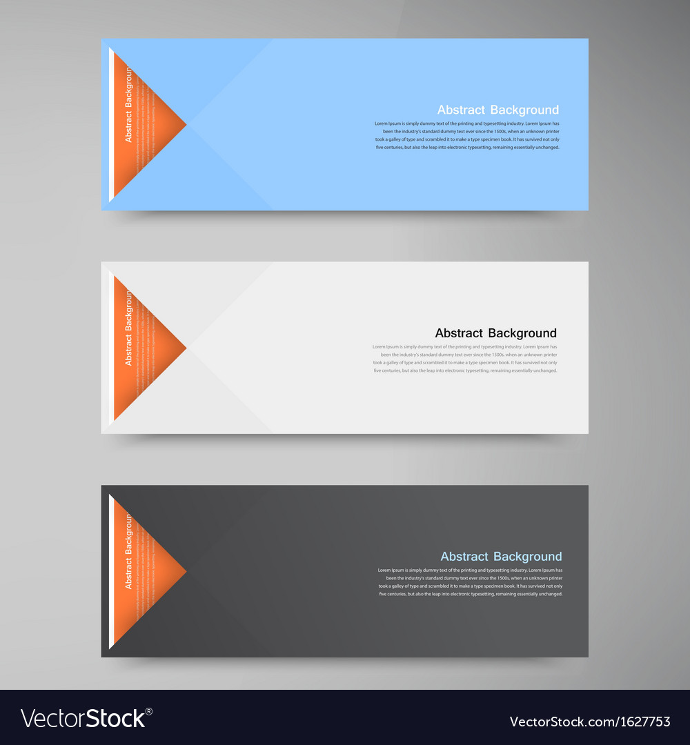 Color Banners Curve And Paper Origami Royalty Free Vector