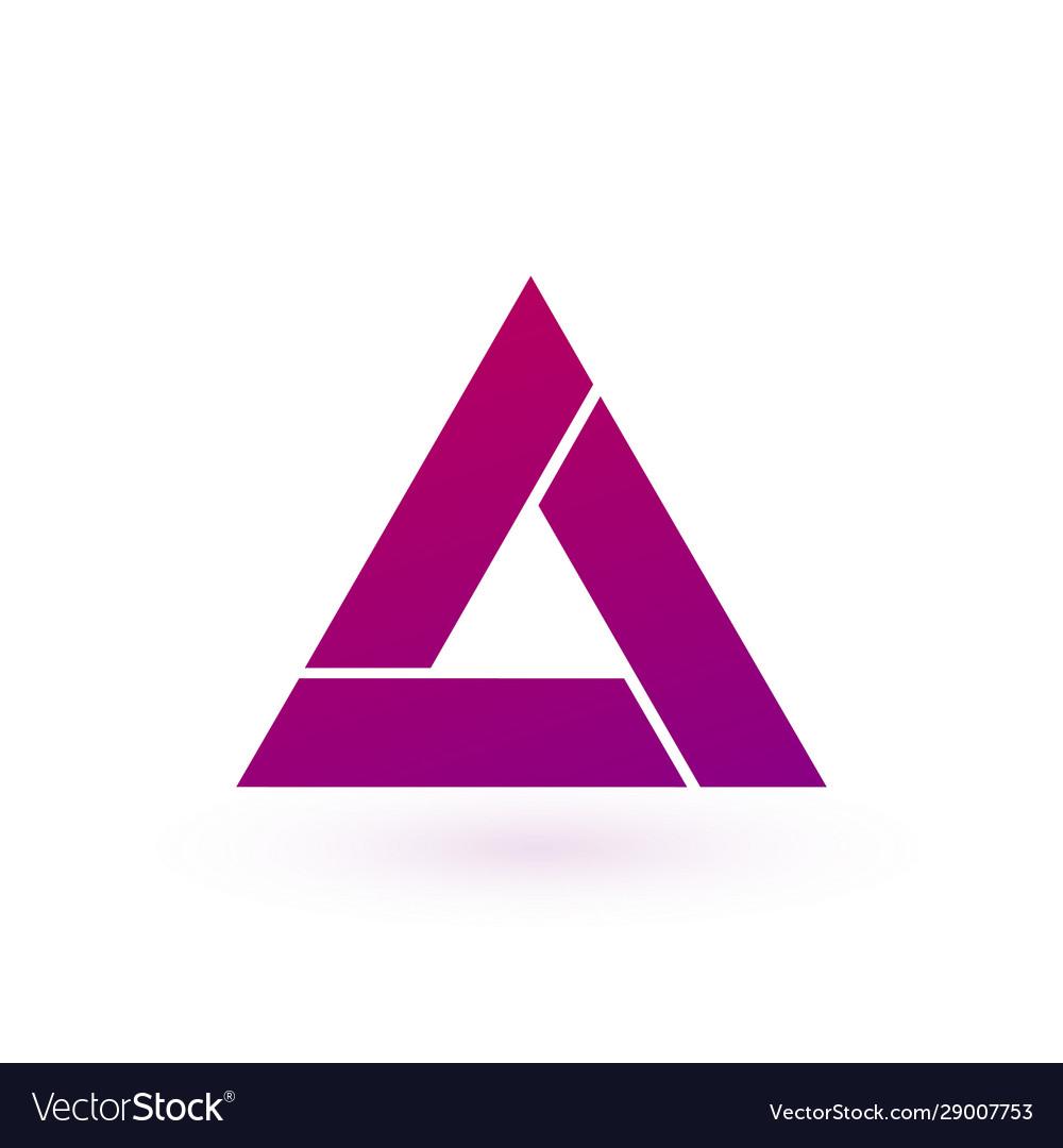 Design triangle logo element stock isolated