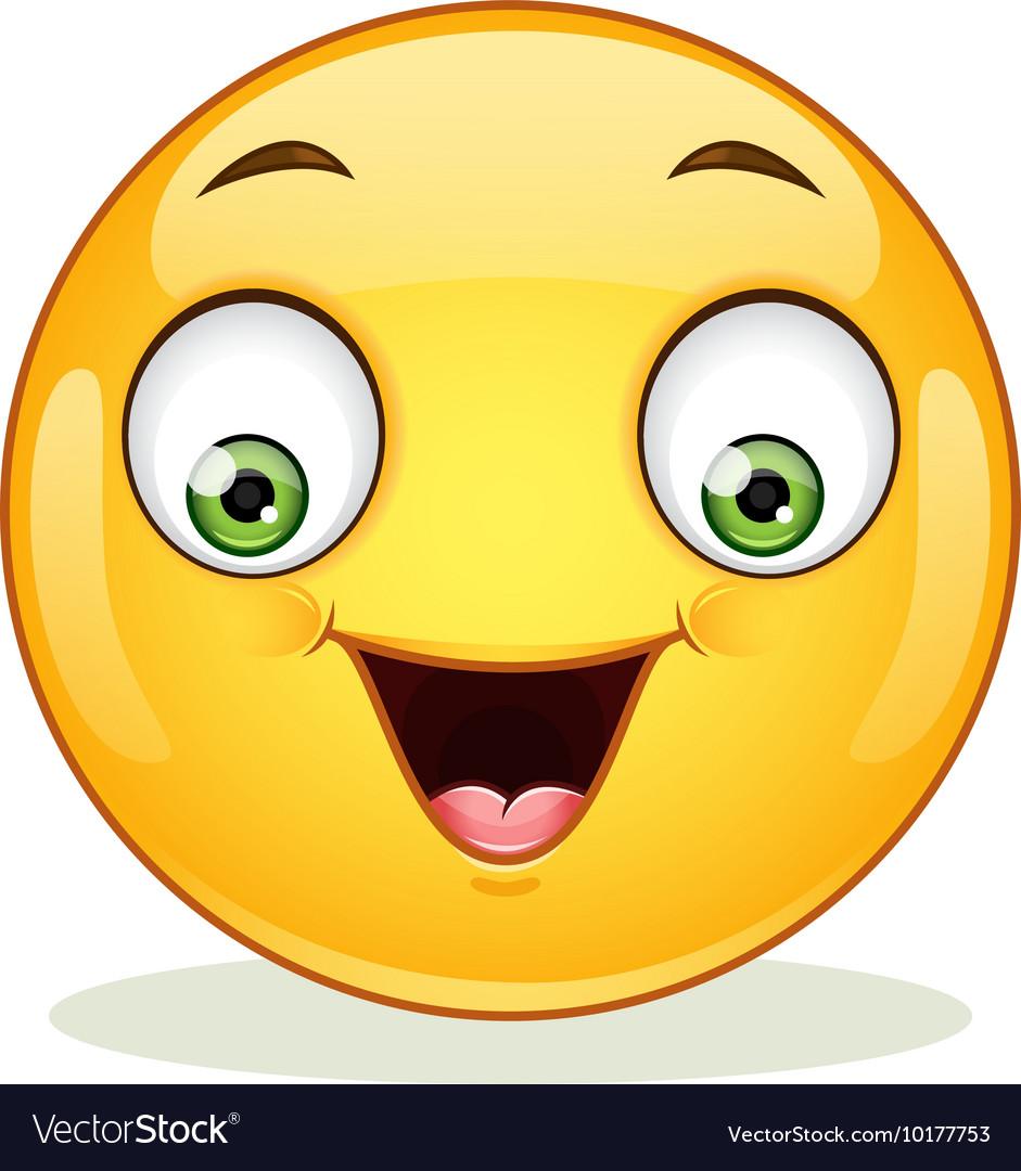 Emoticon with happy face