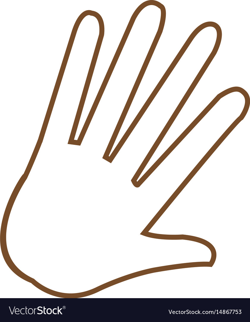 Hand Palm Human Symbol Image Royalty Free Vector Image