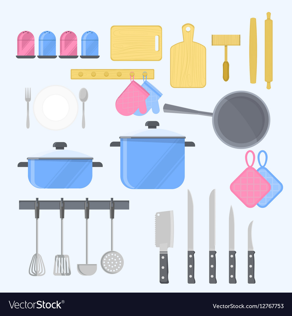 KItchen tools with kitchenware equipment