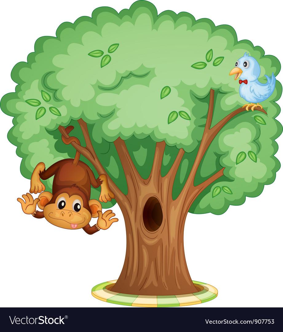 Дерево с дуплом картинка детская
