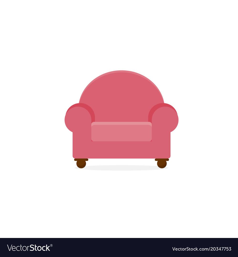 Pink Single Seat Comfort Sofa Furniture Vector Image