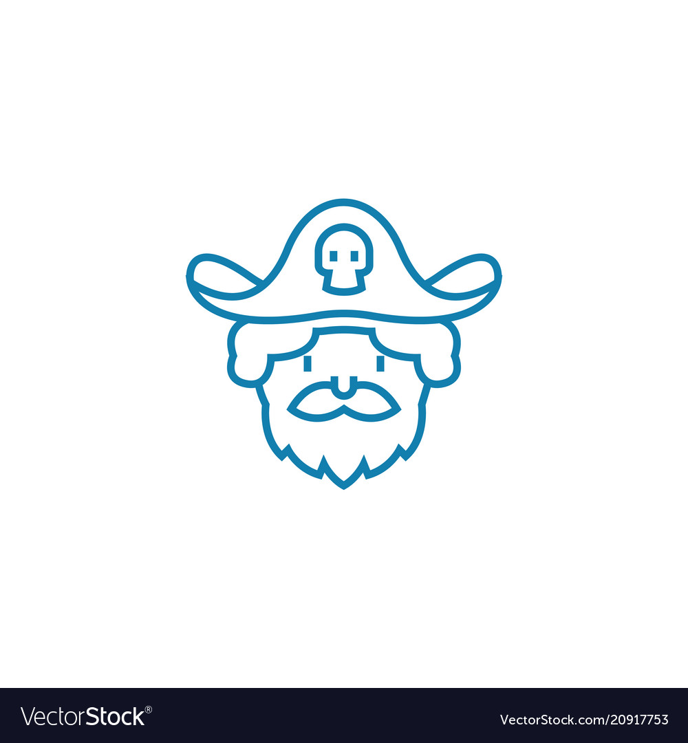 Playing pirates linear icon concept playing