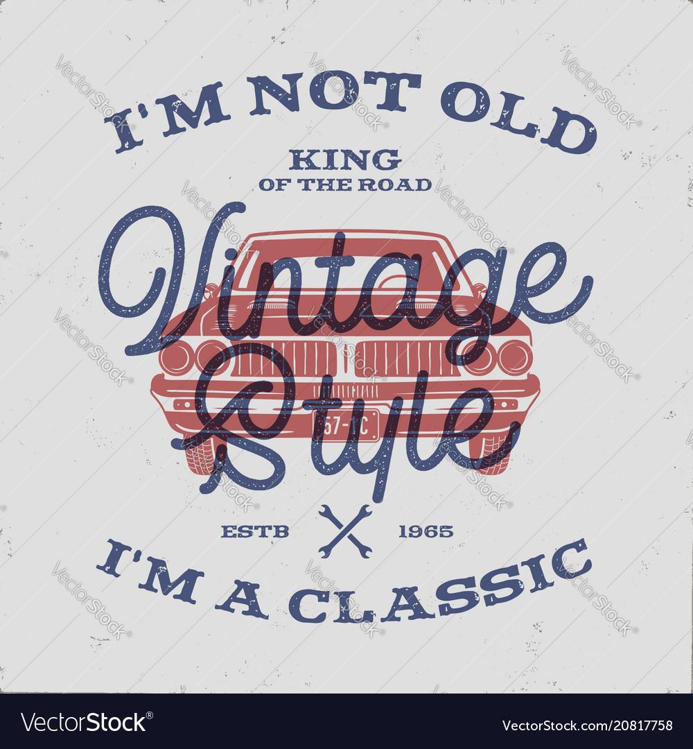 70 birthday anniversary gift t-shirt i m not old vector image