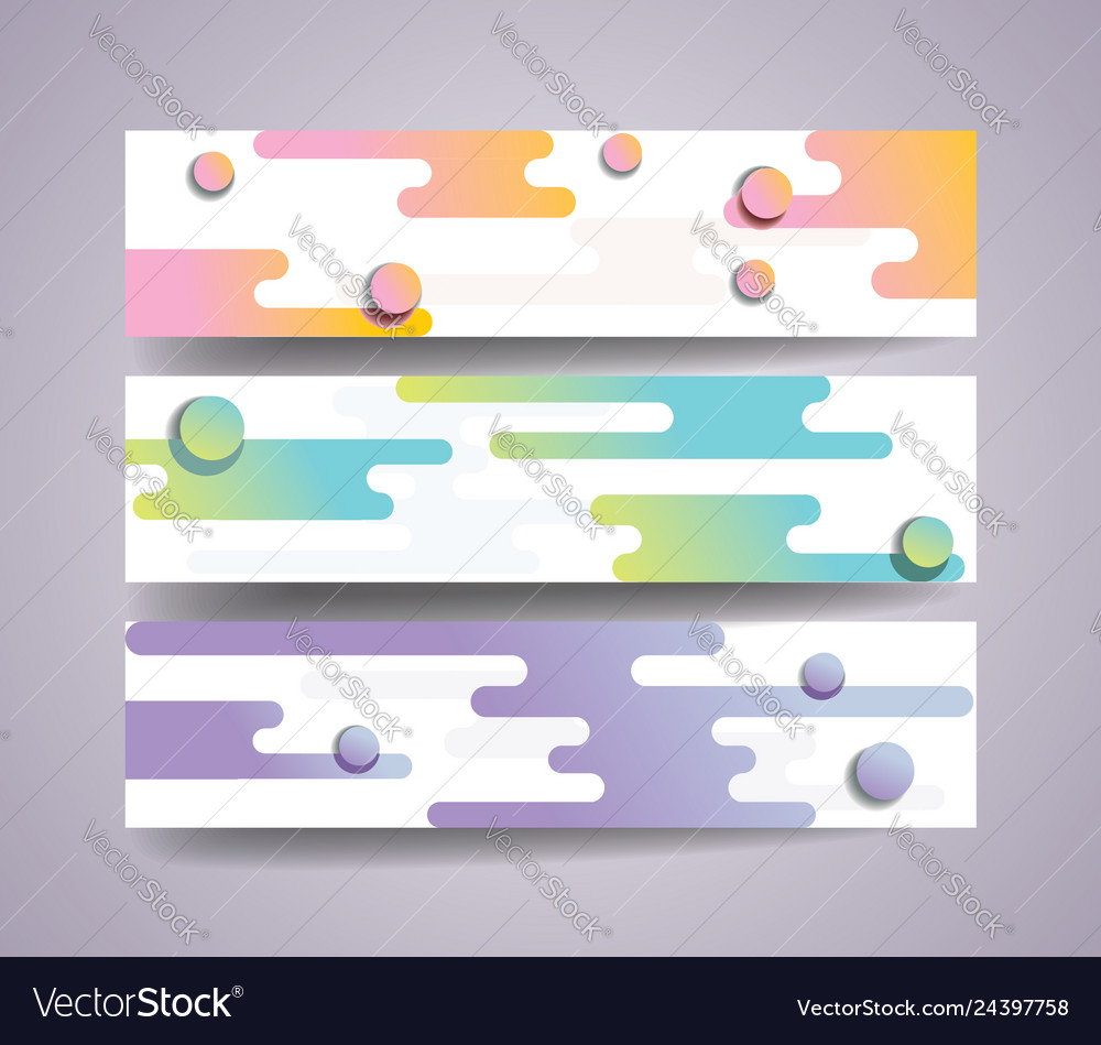 Banner set with abstract shape background