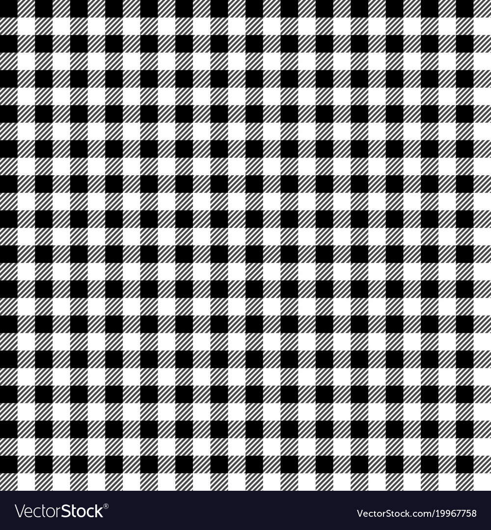 Black And White Gingham Tablecloth Seamless Patter Vector Image