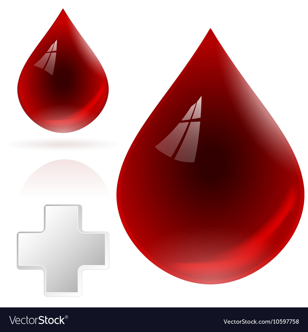 Blood drop isolated on white background