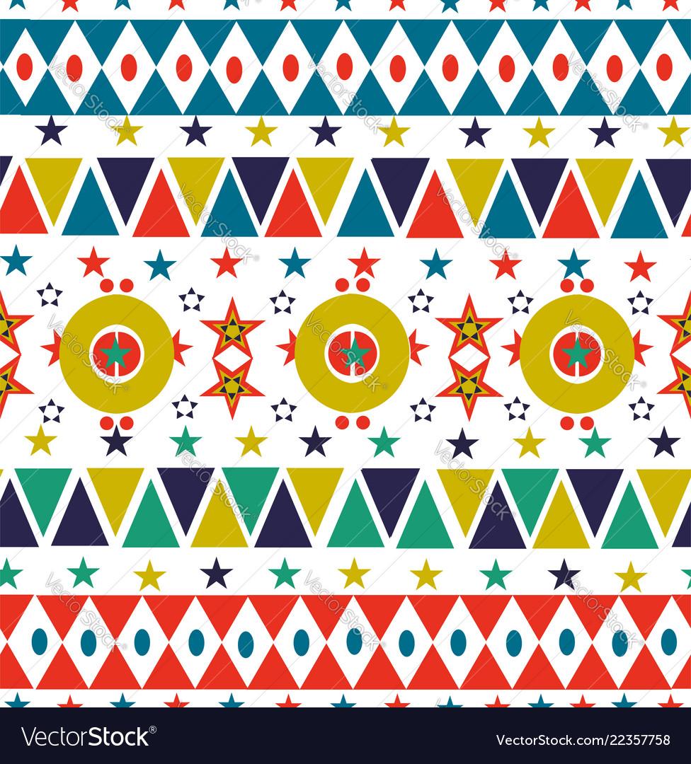 Christmas retro folk holiday seamless pattern art