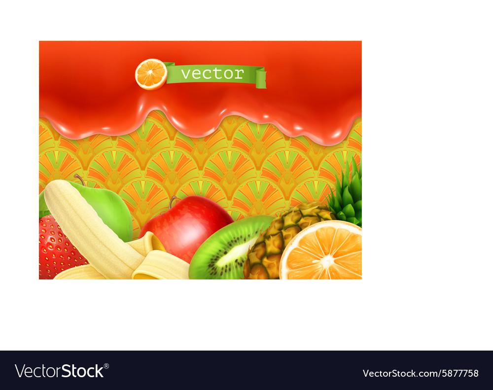 Fruity sweet background