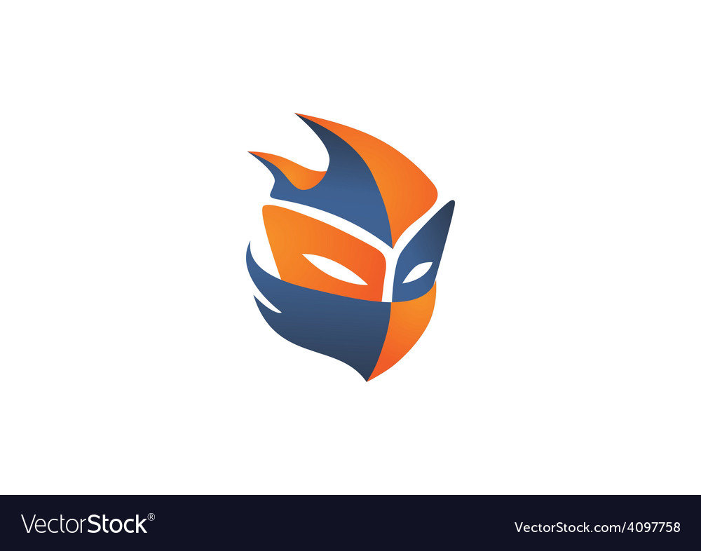 Mask helloween face game logo
