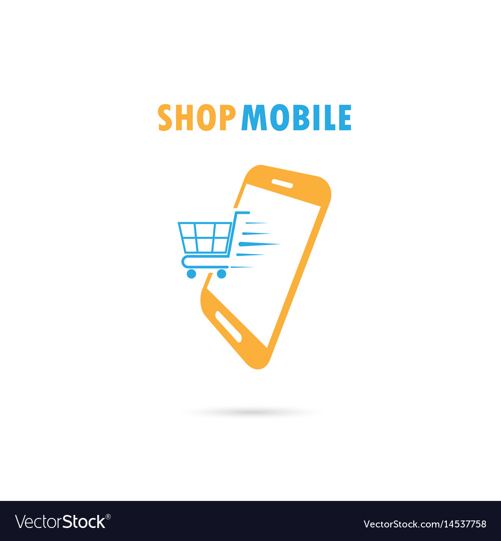 bc05ef1fa3b Mobile phone with online shopping Royalty Free Vector Image