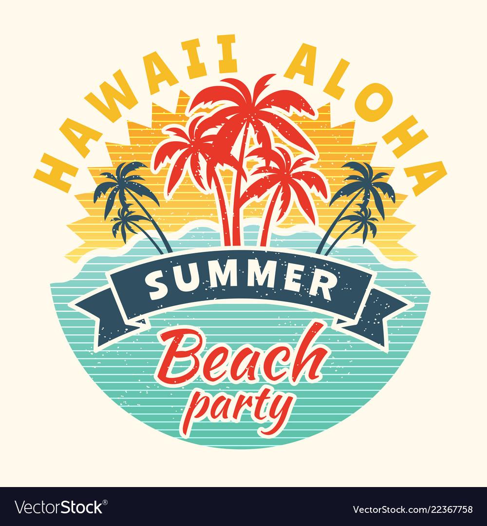 Poster summer time vintage placard