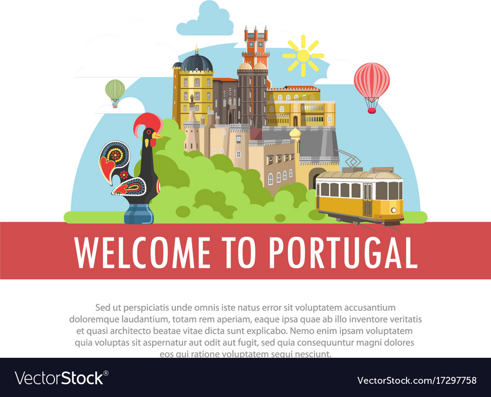 Welcome to portugal travel poster portuguese