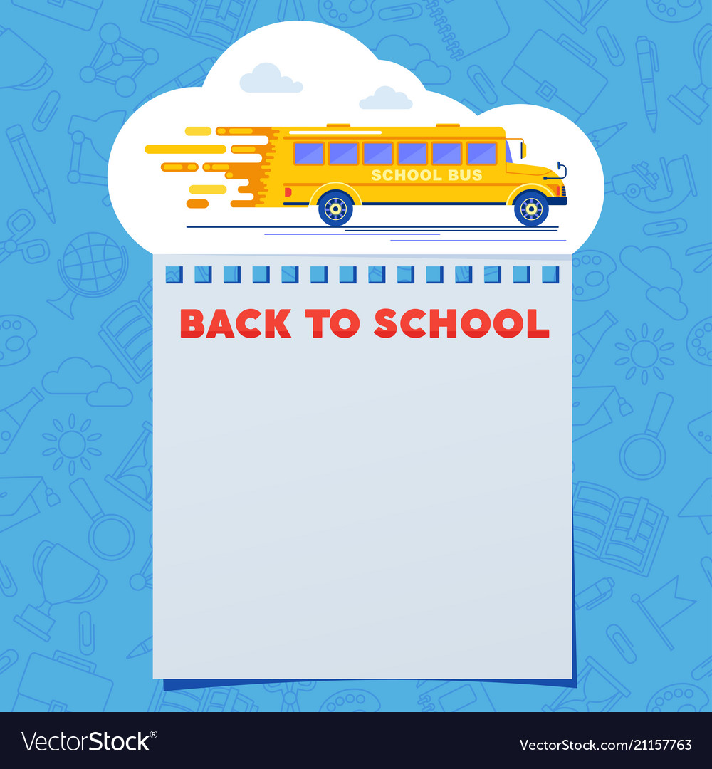 Back to school banner bus