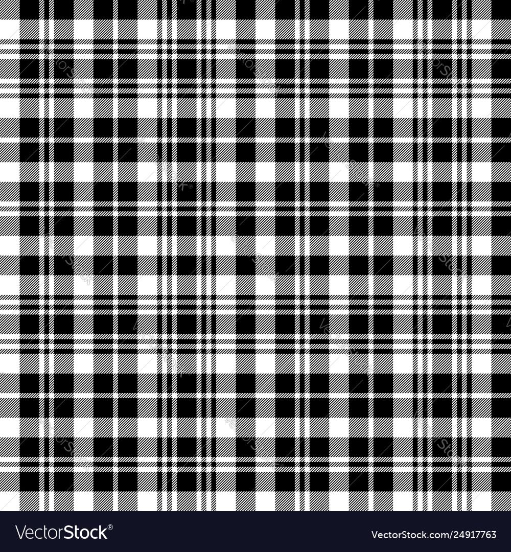 Black Watch Tartan Fabric Texture Seamless Pattern Vector Image