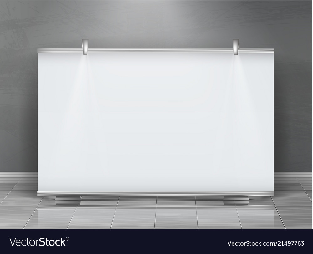 Blank roll up banner horizontal stand