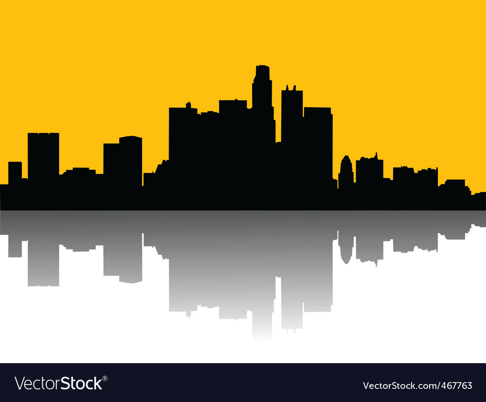 cityscape royalty free vector image vectorstock rh vectorstock com cityscape vector free Cityscape Border