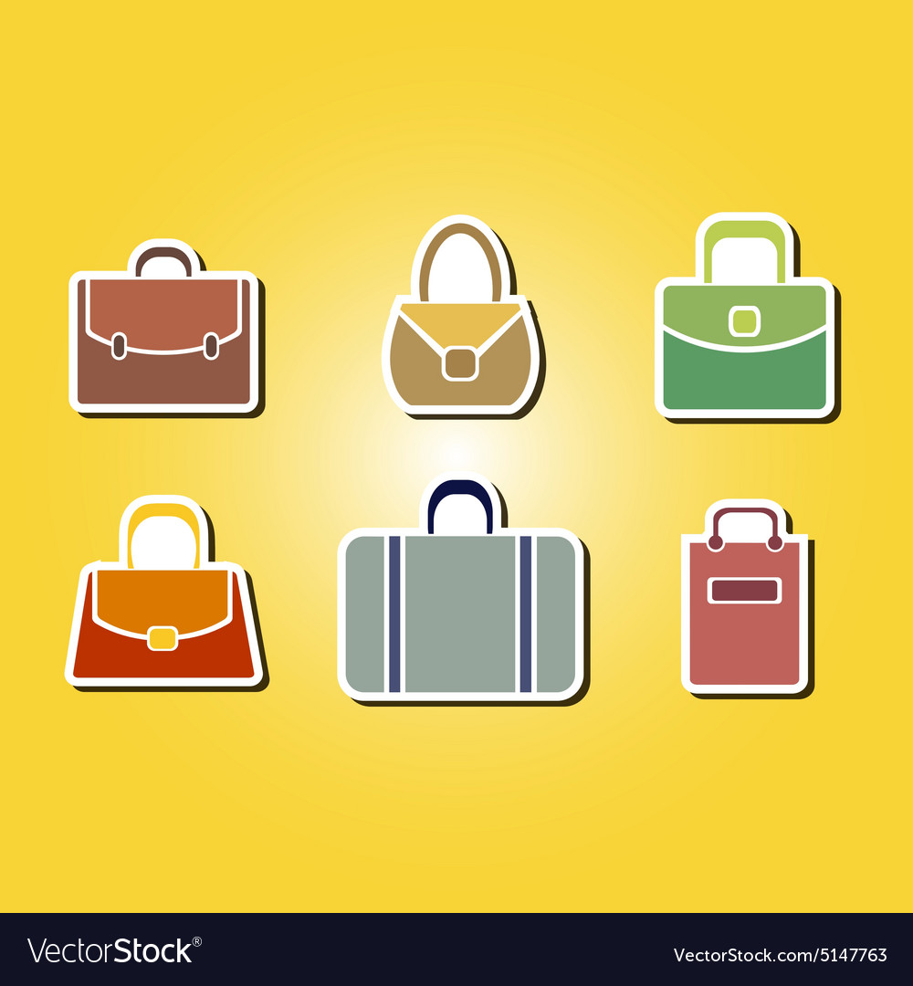 Color icons with bags