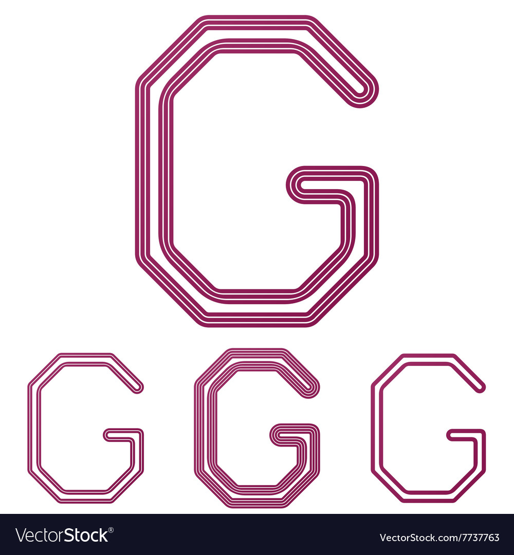 Color letter g logo design set Royalty Free Vector Image