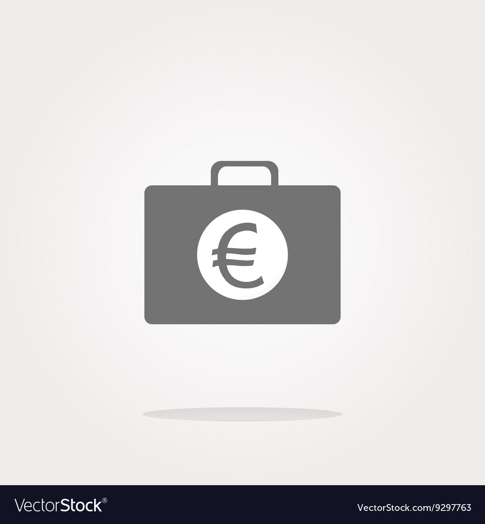 Euro case button financial icon isolated