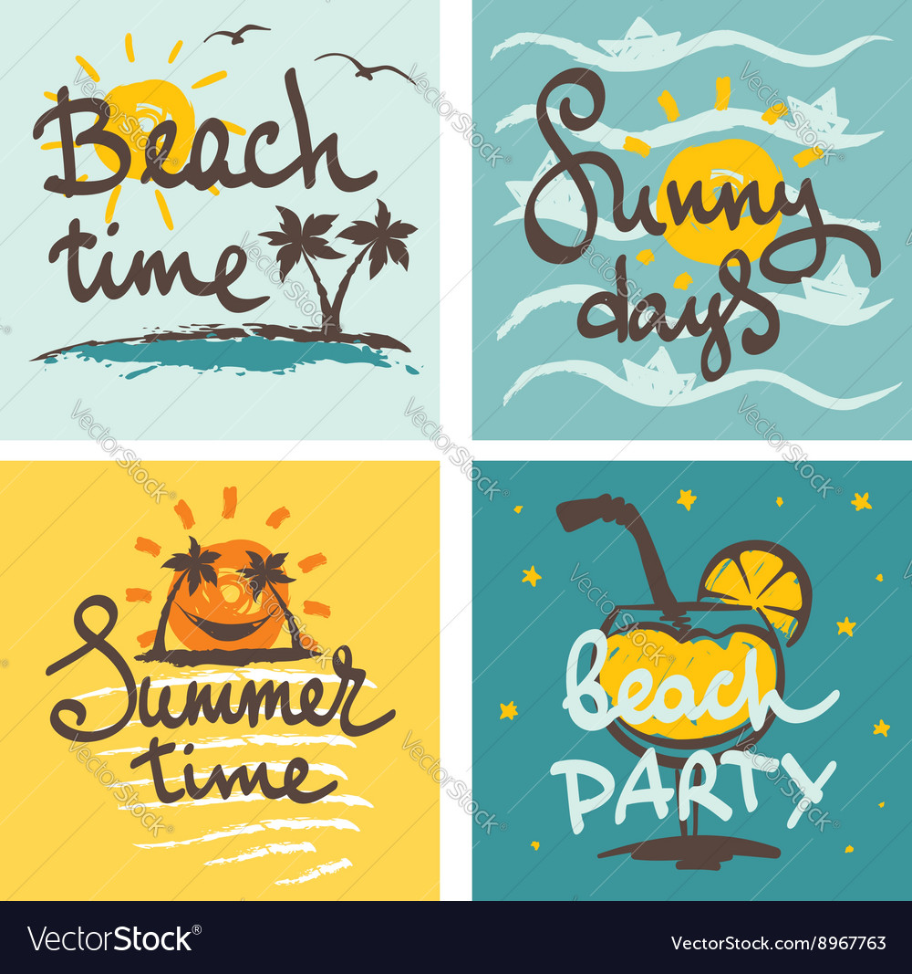 Funny summer hand drawing calligraphy