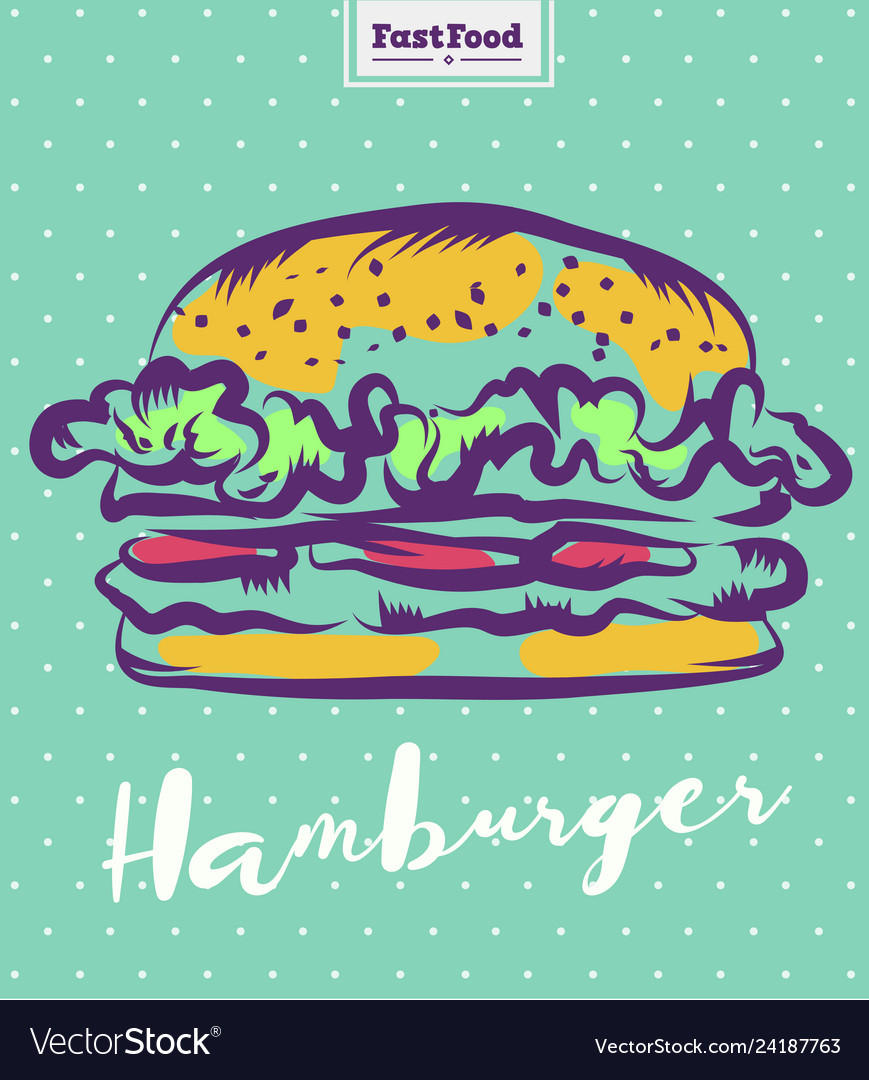 Hamburger poster with cool design