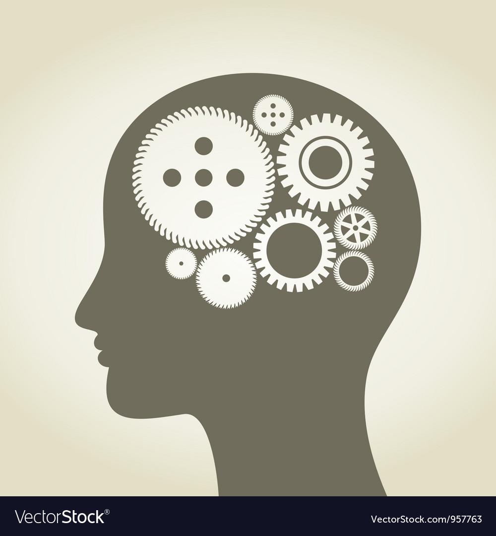 Head a gear wheel vector image