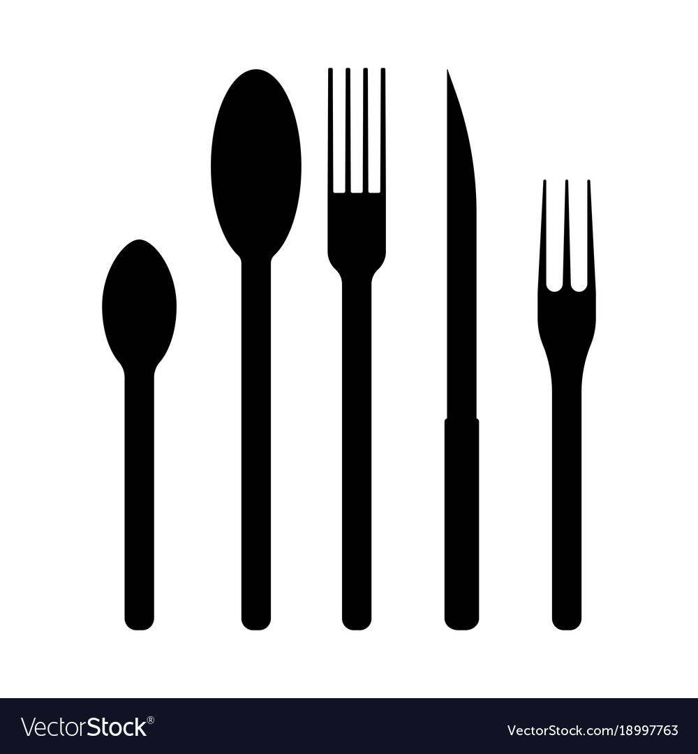 Icons for cutlery vector image