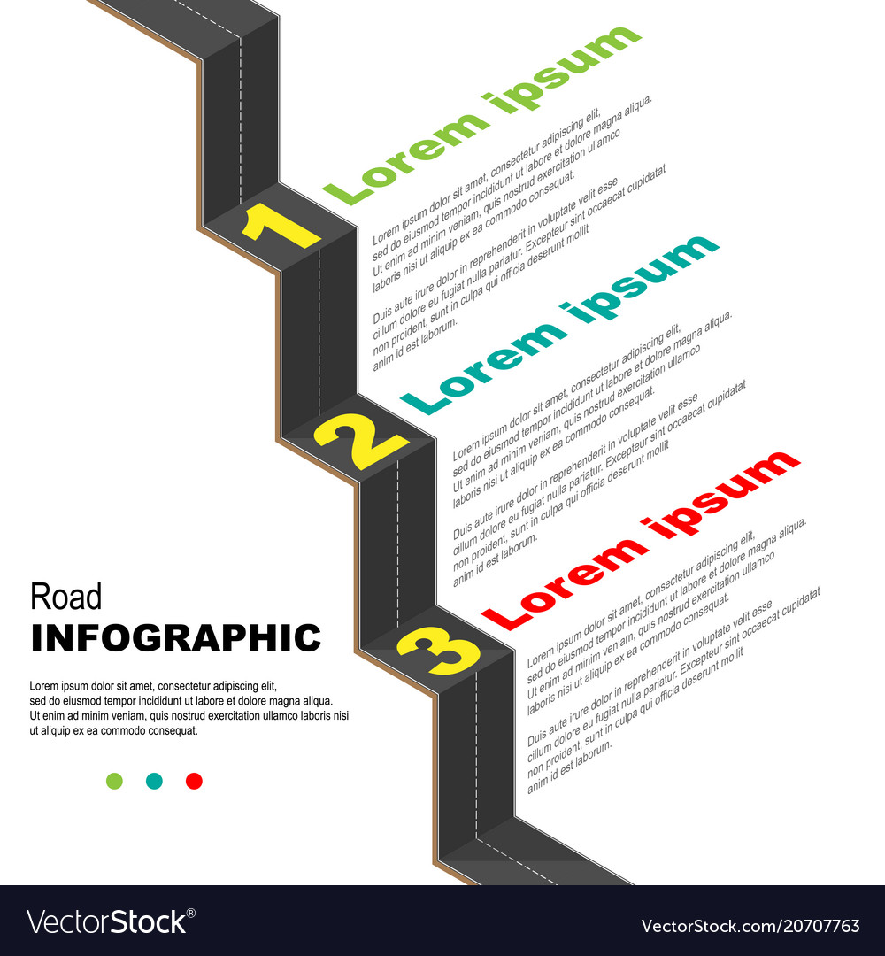 Road infographic background