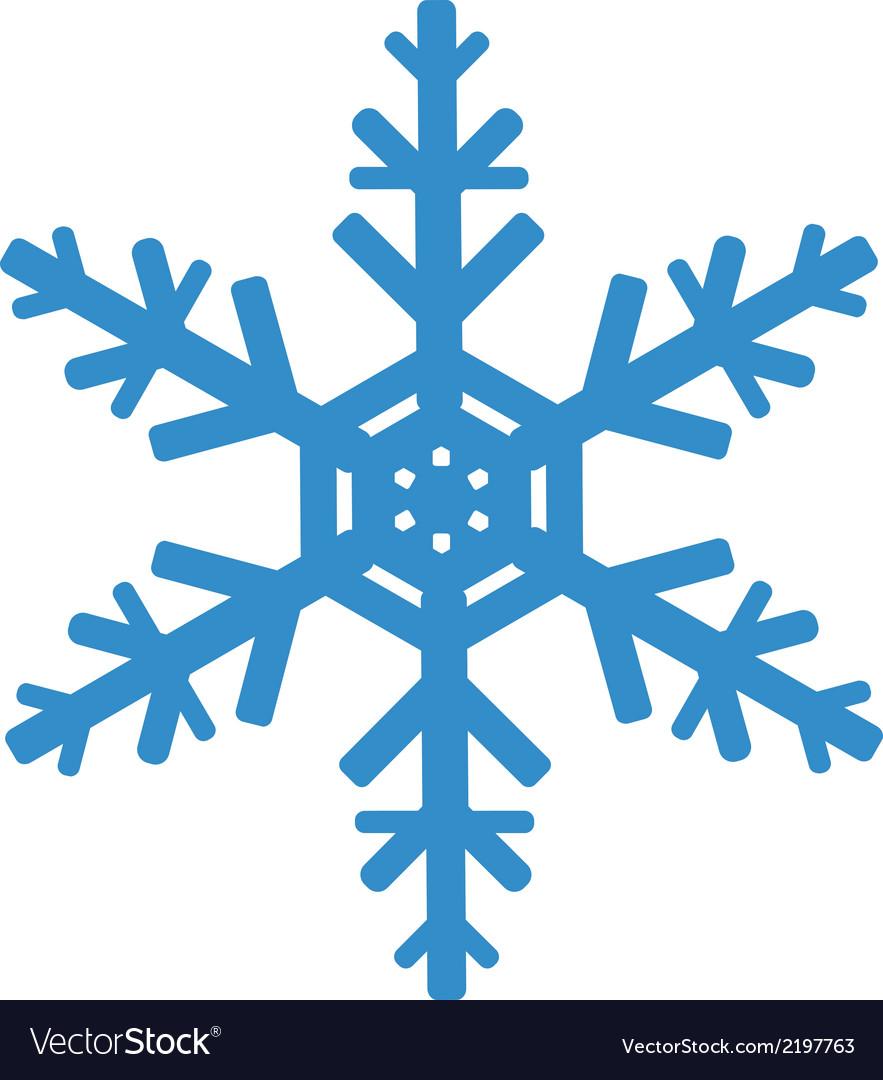 snowflake royalty free vector image vectorstock