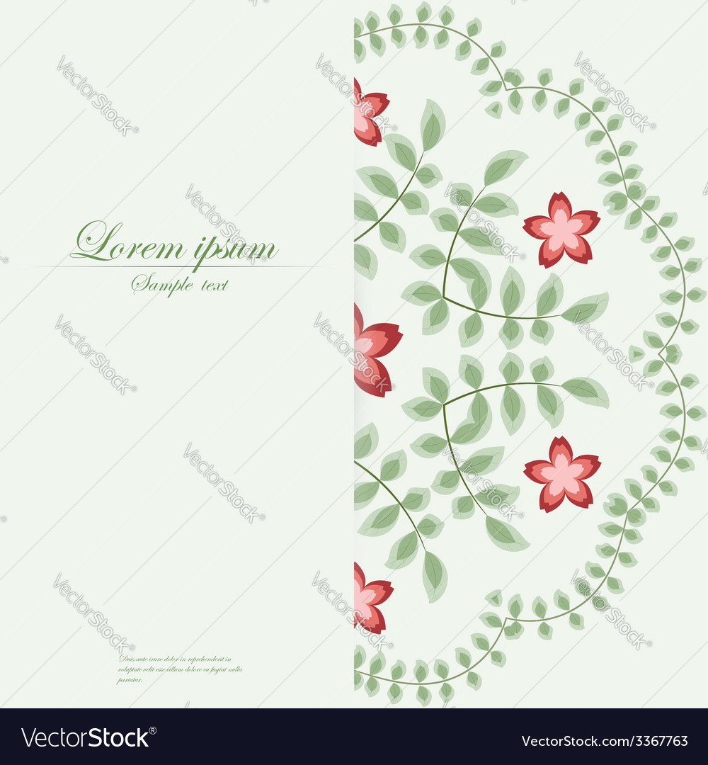 Template for folder business card and invitation vector image