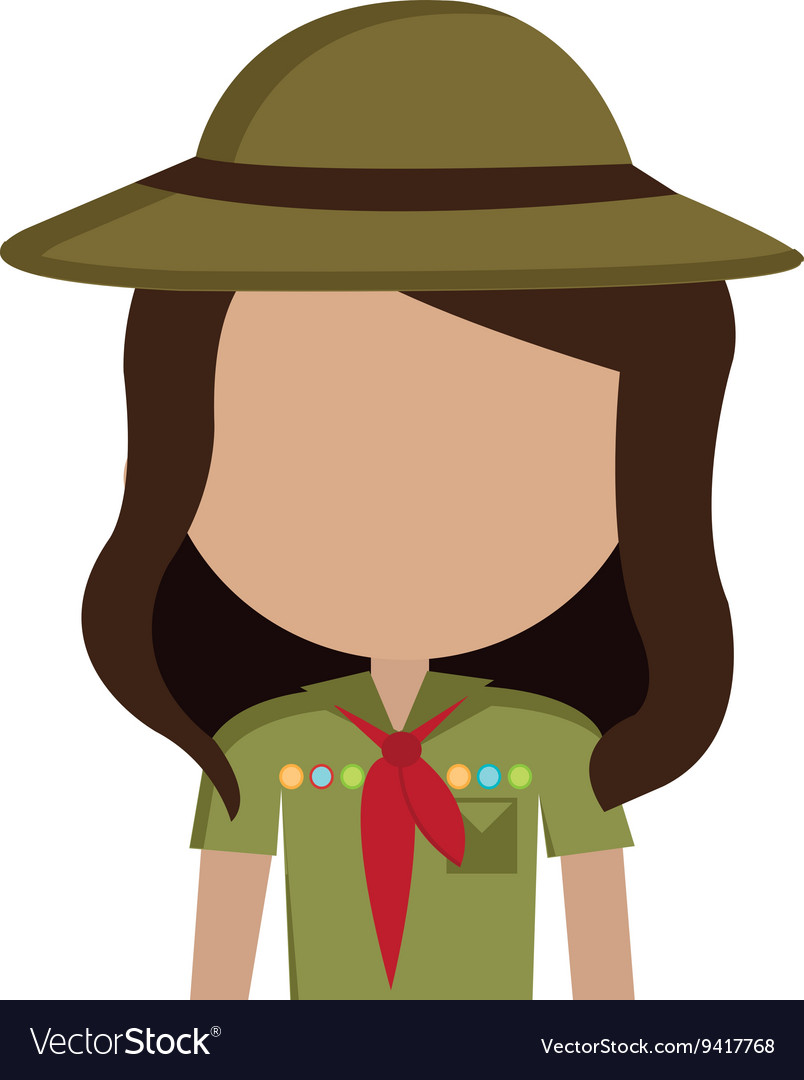 Avatar girl wearing colorful clothes and hat