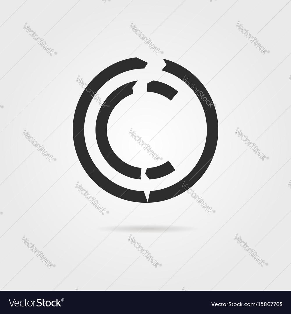 Broken Copyright Symbol With Shadow Royalty Free Vector