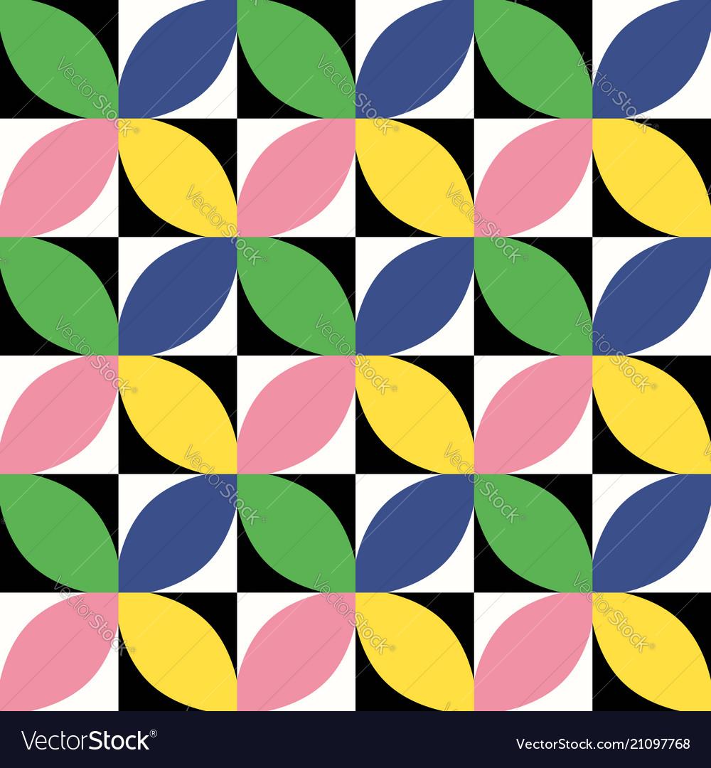Colorful geometric seamless pattern mid century