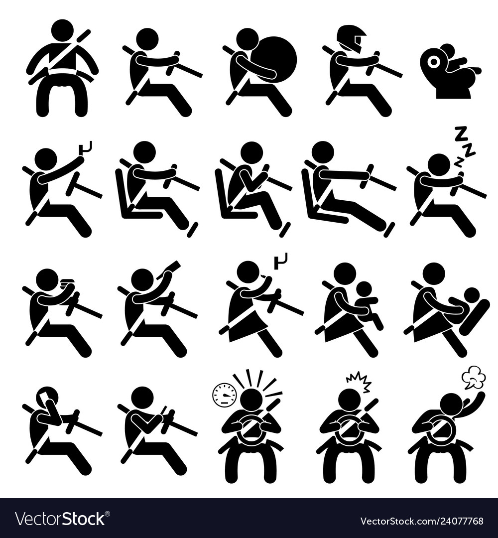 Driving safety guide do and dont stick figure