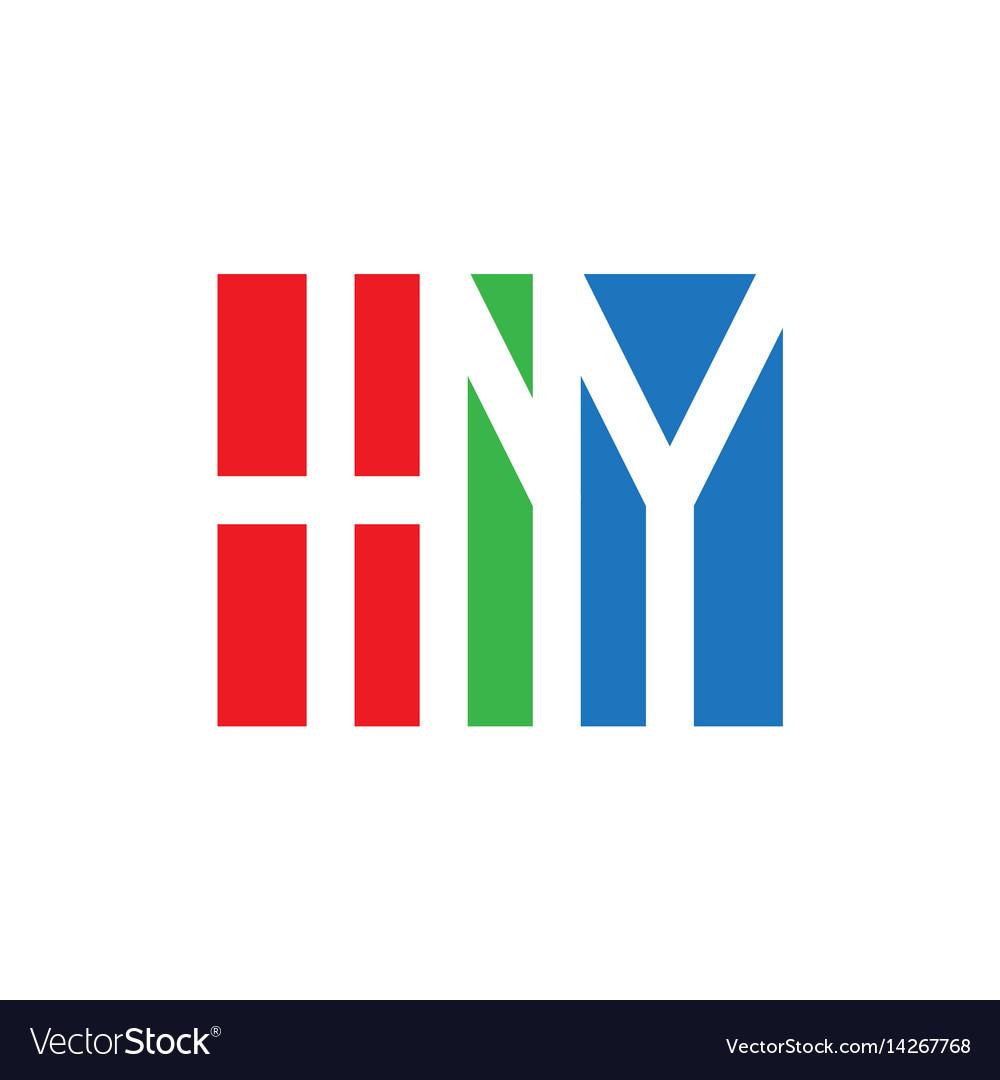 Hny initial logo monogram logotype design element