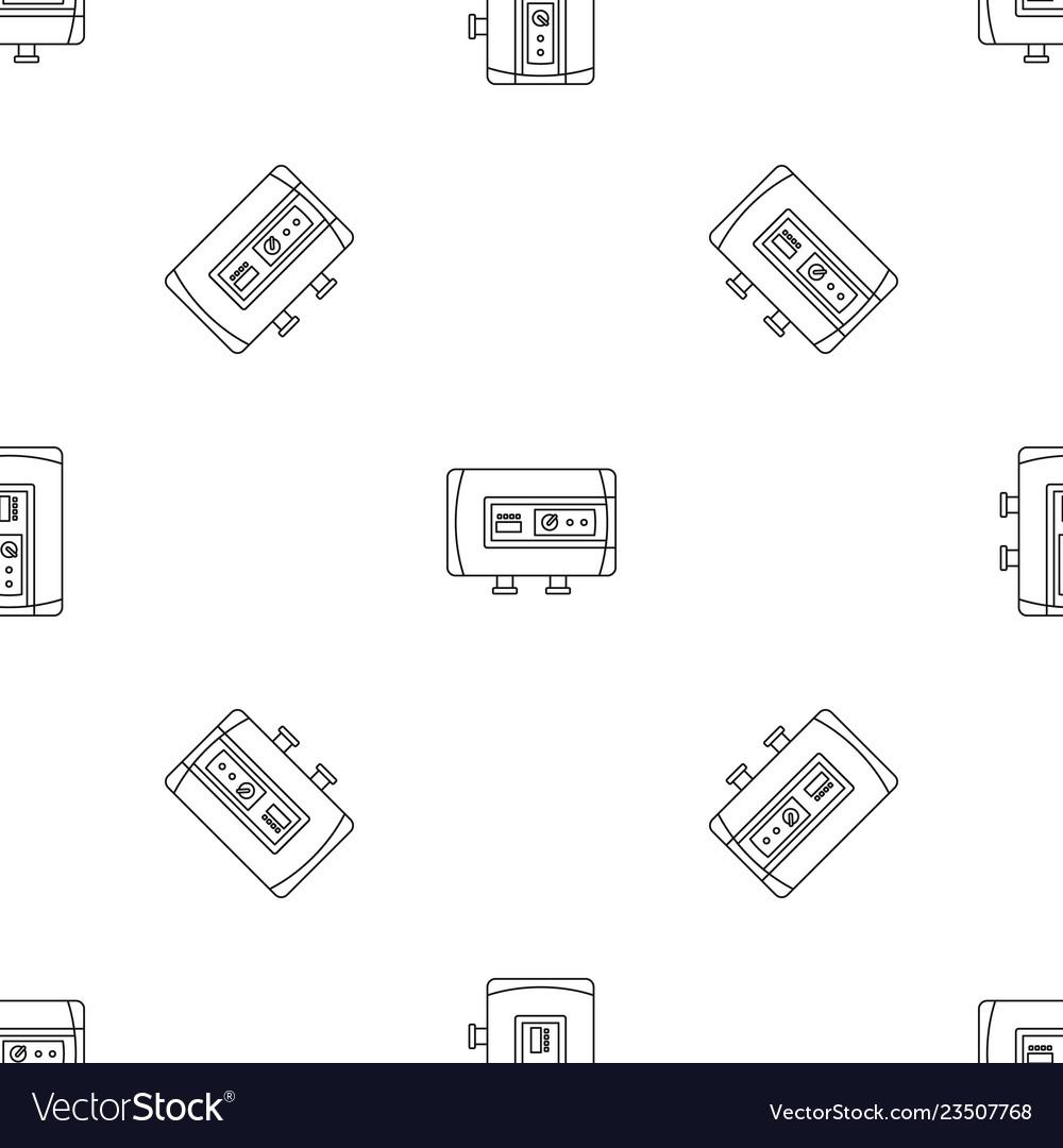 Modern boiler icon outline style